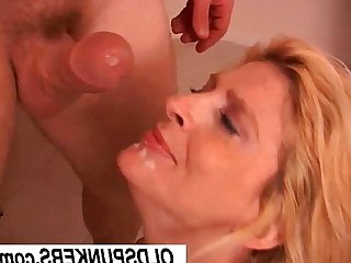 Blonde Cougar Cumshot Facials Hot Housewife Juicy Mammy