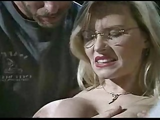 Glasses Oil MILF Wet Double Penetration Blonde Stocking Ass