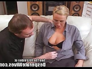 Nasty Cumshot Hardcore Hot Blonde MILF Teacher Train