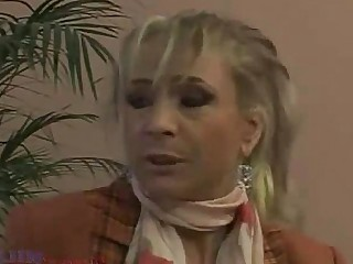 Blonde Granny Mature MILF Moan Nasty Nylon