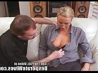 Blonde Fuck MILF Monster Sperm Train Wife