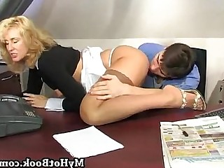 Blonde Boss Mammy MILF Office Seduced