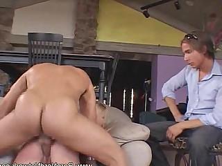MILF Ladyboy Hot Couple Erotic Cumshot Blowjob Anal