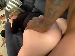 Black Blonde Big Cock Huge Cock Interracial MILF Stocking