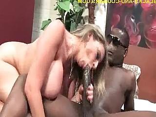 Big Tits Black Blonde Big Cock Cougar Handjob Hardcore Interracial