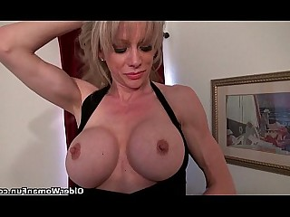 Cougar Mammy Masturbation Mature MILF Nylon Panties Solo