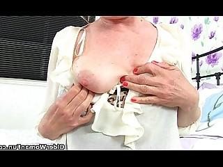 Vibrator HD Cougar Stocking Mature MILF Striptease