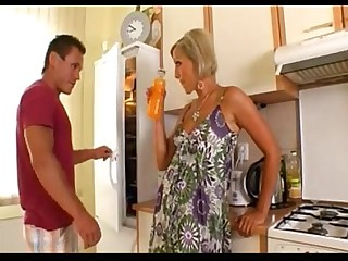 Ass Blonde Kitchen MILF