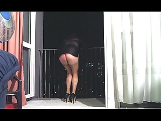 MILF Cougar Ass Dress Boobs Big Tits Panties Oil