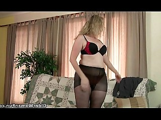 Cougar Mammy Mature MILF Nylon Panties Stocking