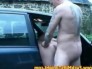 Couple Fuck MILF Natural Public