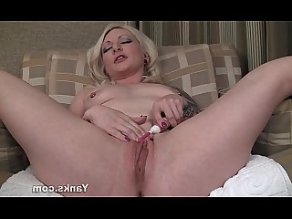 Blonde Kitty MILF Orgasm Pussy Solo Tattoo Toys