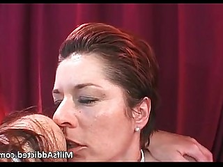 Group Sex Hardcore Hot Lesbian Licking Mammy MILF Threesome