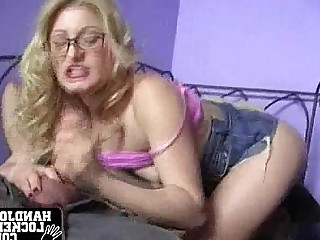 Ass Blonde Glasses Handjob MILF