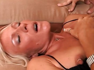 Slender Anal Pussy Ass Blonde Tattoo Blowjob Mouthful