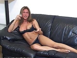 Bikini Jerking Masturbation MILF Smoking Teacher
