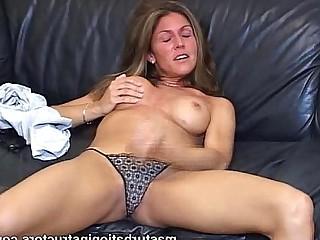 MILF Horny Jerking Masturbation Striptease Teacher Tease