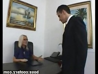 Blonde Boss Big Cock Cougar MILF Sucking