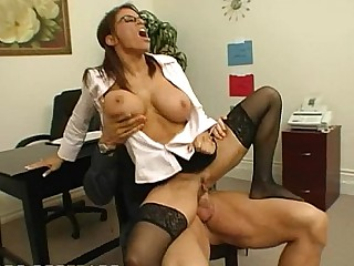 Big Cock MILF Stocking Ride